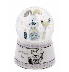 This beautifully finished water ball is a perfect little gift idea for any christening day