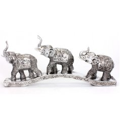 Bring the wild themes of the african plains into your home with this beautifully patterned resin elephant ornament