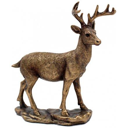 Bronzed Standing Deer