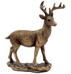 A bronzed standing deer