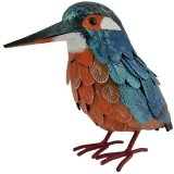A small kingfisher metal garden decoration