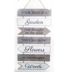 A beautifully distressed finished hanging garden plaque