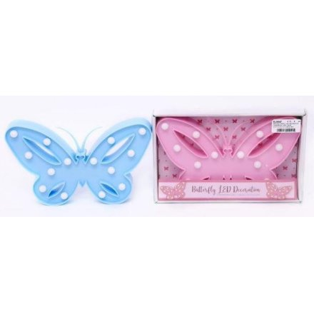 Butterfly LED Decoration, 2 assorted