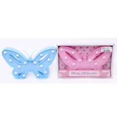 An assortment of 2 butterfly LED decorations