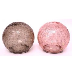 An assortment of 2 crackle glass LED dome