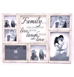 A multi photo frame with sentimental quote