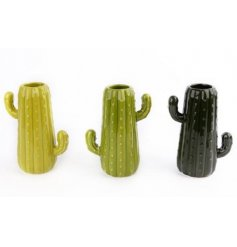 This in trend assortment of Cacti themed vases will add a perfect greenery touch to any space of a modern home