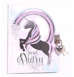 A small unicorn themed diary