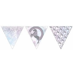 5 meters of unicorn themed bunting