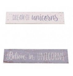 Bring a magical touch to any bedroom space with these fun unicorn inspired plaques