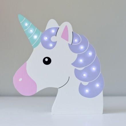 Wooden Unicorn Head LED Decoration