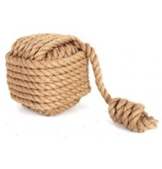 A square shaped rope door stop