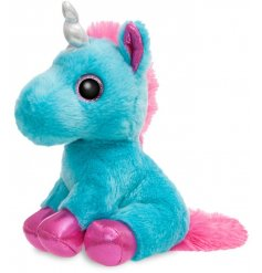 Add a magical touch to your little ones play time with this super soft and snuggly Moonbeam Unicorn