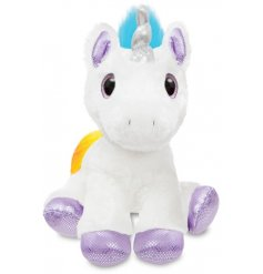 Add a magical touch to your little ones play time with this super soft and snuggly Dazzle Unicorn