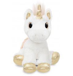 Add a magical touch to your little ones play time with this super soft and snuggly Star Unicorn