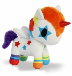Add a magical touch to your little ones play time with this quirky little unicorn plushie