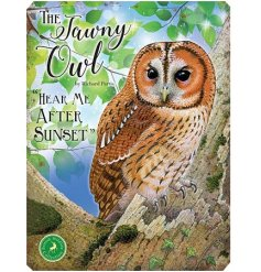 With its bright colours and script quotes, this Owl themed metal sign is a must have