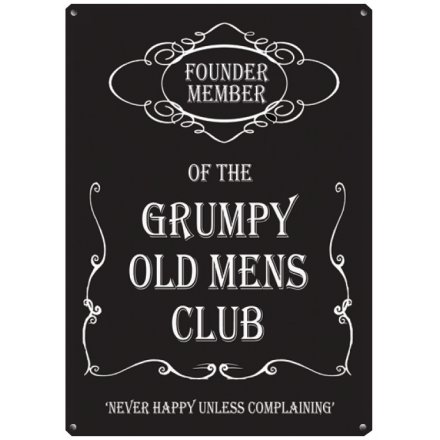 Grumpy Mens Club Large Sign