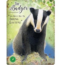 With its bright colours and script quotes, this badger themed fridge magnet is a must have