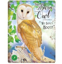 With its bright colours and script quotes, this Barn Owl themed metal sign is a must have