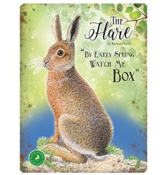With its bright colours and script quotes, this Hare themed metal sign is a must have
