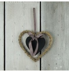 Add this chic themed wicker heart into your home to keep track of any notes or memos,