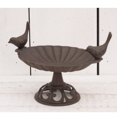 A vintage inspired cast iron bird feeder
