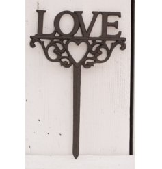 Bring some love to your garden with this rustic cast iron stake