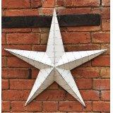 Whitewashed extra large Metal Barn Star