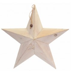A 49cm white wooden barn star