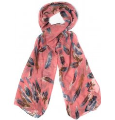 Beautifully toned assortments of scarves with a feather inspired look
