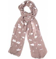 Get bundled up for the winter with these chic and sweet polar bear themed scarves