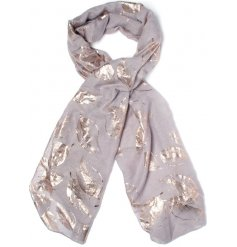 Get ready for Autumn with this chic assortment of foil leaf printed scarves