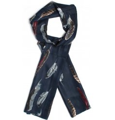Get ready for the colder seasons with this chic assortment of feather printed scarves
