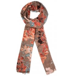Add a touch of Autumn to your outfit with these floral inspired scarves,