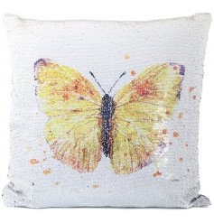 Add a sweet spring touch to your sofa with this chic sequin cushion