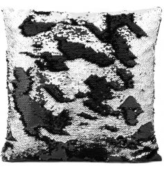 Add a chic vibe to any home space with this trendy sequin cushion