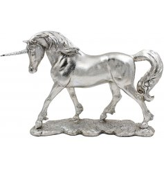 Add a sparkling glittery touch to any decor with this magical and majestic Unicorn Figure