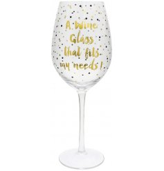 Drink your wine in style with this glitzy glam inspired wine glass