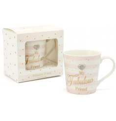 A beautifully finished china mug from the popular 'Mad Dots' range,