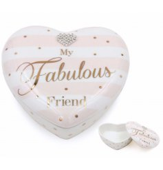 Show your friends you love them with this beautifully finished heart pot