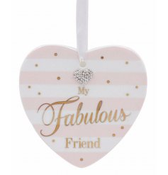 Show your friends you love them with this beautifully finished hanging heart