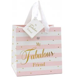 A beautifully patterned gift bag from the Mad Dots Range