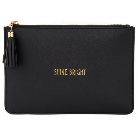 Shine Bright Black Clutch