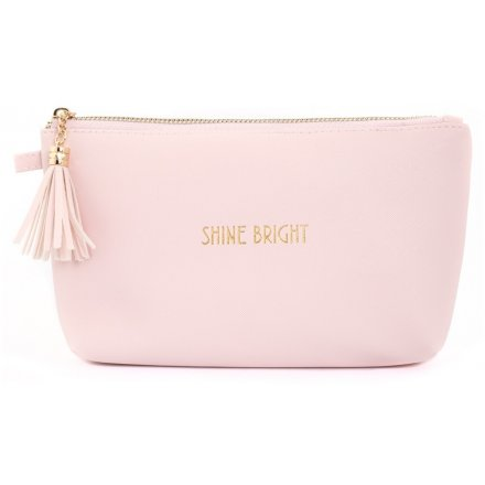 Shine Bright Pink Cosmetic Bag