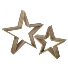 Wooden Star Set  A chic smooth sanded set of wooden star ornaments