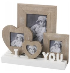 This beautiful natural toned set of frames will add a homely touch to any space
