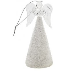 Glitz Glass Angel  A glam inspired hanging glass angel,