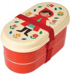 A red riding hood themed bento lunch box
