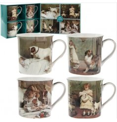These beautifully assorted fine china mugs will bring an era inspired touch to any kitchen space